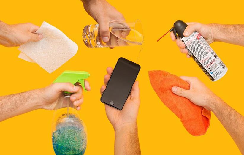 تمیز کردن گوشی موبایل