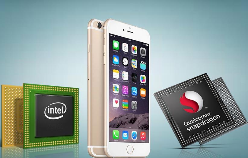 Apple Intel Qualcomm chips 1 - درگیری حقوقی کوالکام و اینتل وارد مرحله تازهای شد