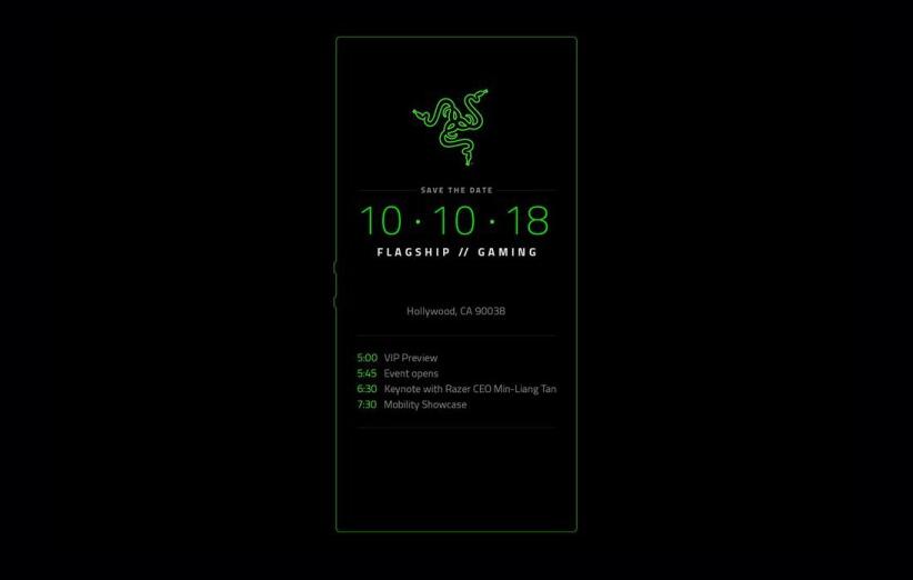 Razer Phone 2 invitation - ریزر تاریخ معرفی گوشی جدید خود را اعلام کرد