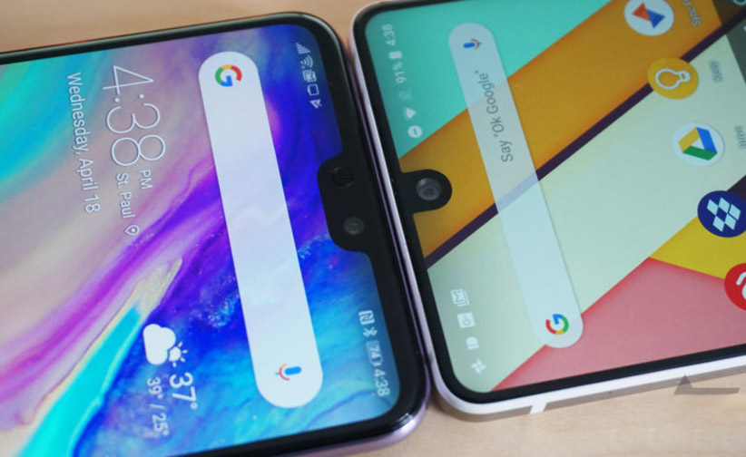 بریدگی نمایشگر گوشیهای هوشمند