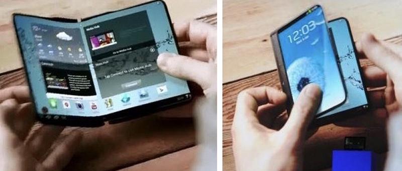 Samsung Foldable phone concept 2013 - سامسونگ میگوید گوشی تاشو این شرکت میتواند تبلت هم باشد