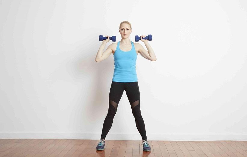 حرکت ورزشی ساده با دمبل