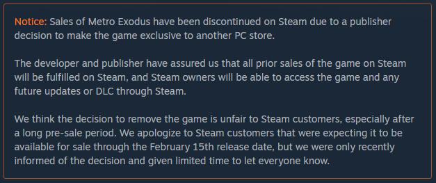 Steam استیم بازی Metro Exodus