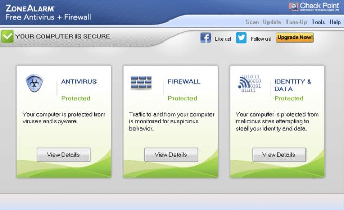 آنتی ویروس رایگان ZoneAlarm Free Antivirus