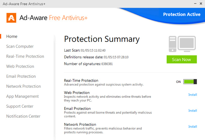 آنتی ویروس رایگان Lavasoft Ad-Aware