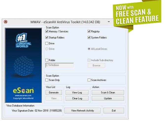 آنتی ویروس رایگان eScan Antivirus Toolkit
