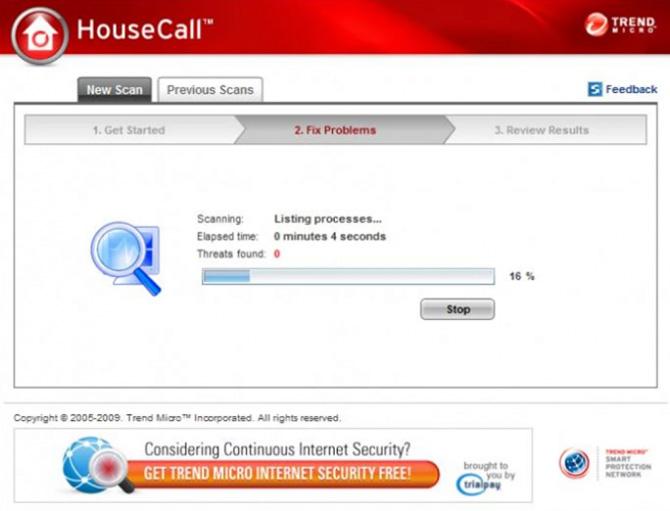 آنتی ویروس رایگان Trend Micro HouseCall