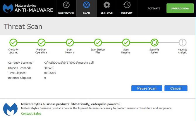 آنتی ویروس رایگان Malwarebytes Anti-Malware