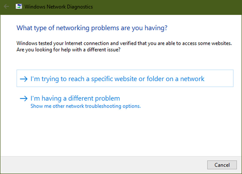 مشکلات شبکه