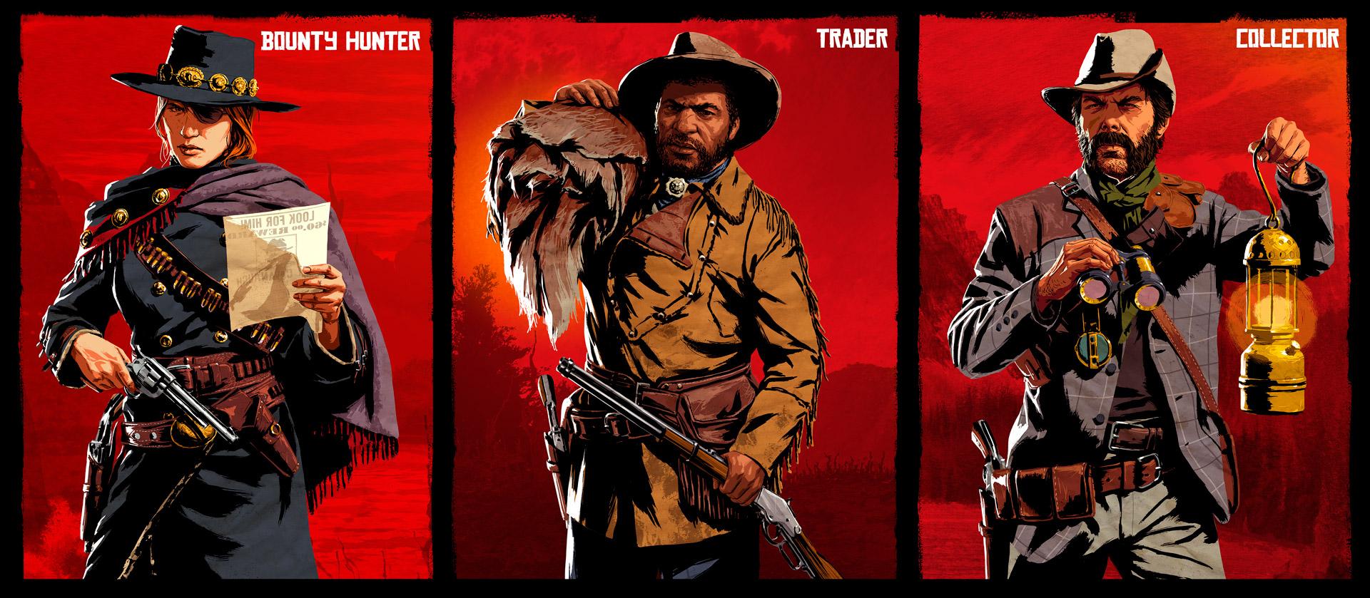 بازی Red Dead Online کلاس ها Roles