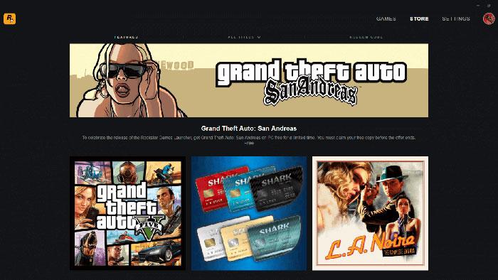 فروشگاه Rockstar Games