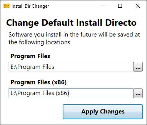 Install Dir Changer