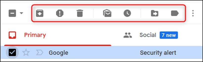 تبدیل آیکونهای Mail Action به متن