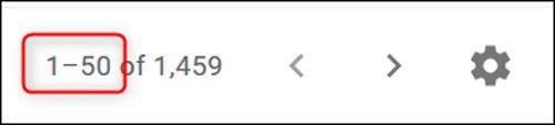تغییر تعداد ایمیلهای به نمایش درآمده