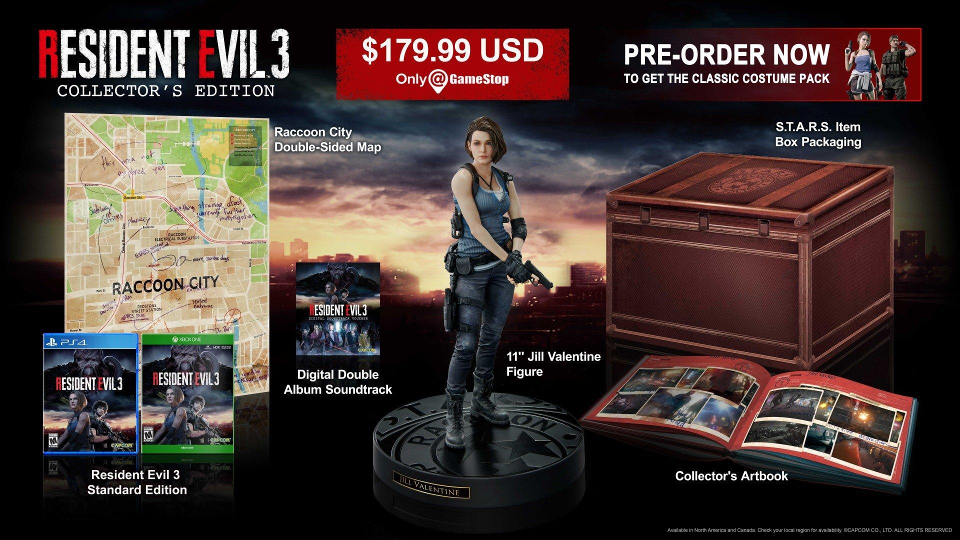 نسخهی کلکسیونی بازی Resident Evil 3