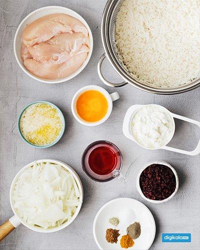 طرز پخت ته چین مرغ