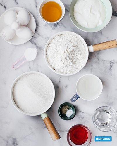 مواد لازم برای کیک شربتی