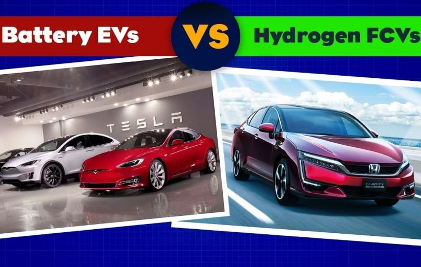 hydrogen fuel cell car vs electric car