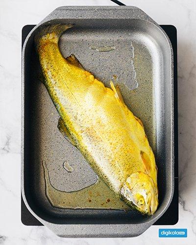 ماهی شکم پر در ماهیتابه