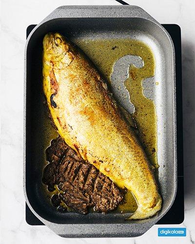 ماهی شکم پر با رب انار