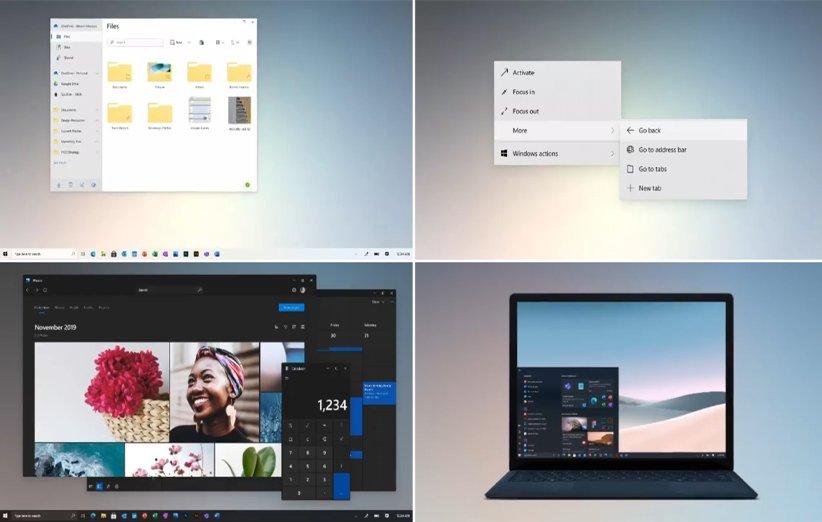 رابط کاربری جدید ویندوز 10