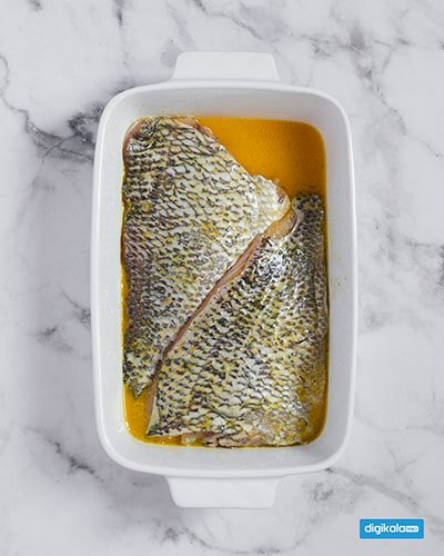 طرز تهیه سبزی پلو با ماهی قزل آلا