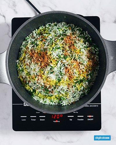 طرز تهیه سبزی پلو با ماهی شب عید
