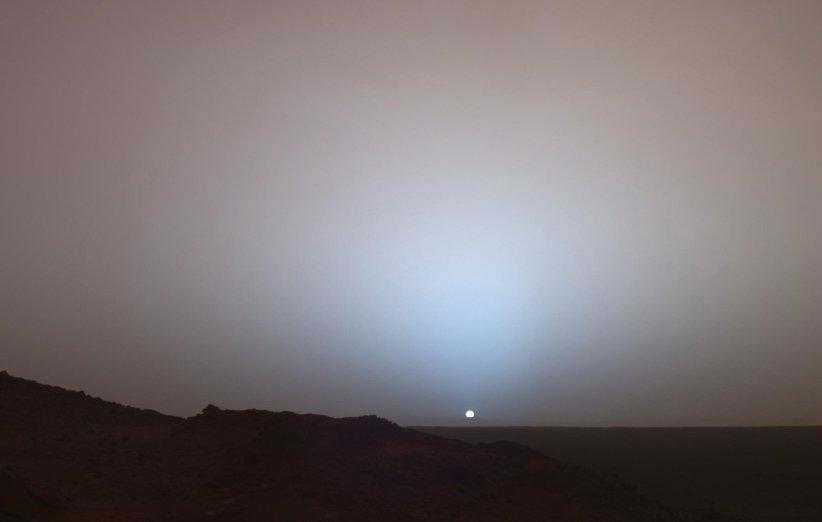 غروب خورشید در مریخ