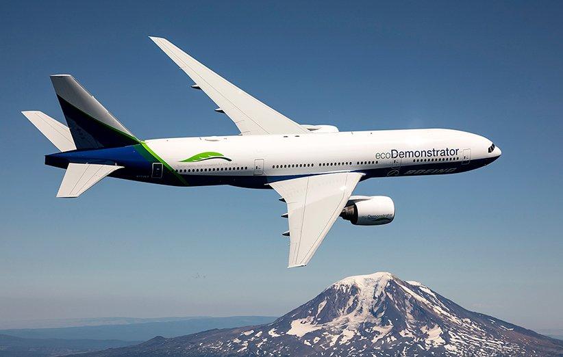 هواپیمای اکودیمونستریتور بویینگ در جهت بهبود عملکرد زیست محیطی