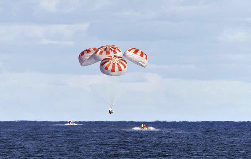 دموی بازگشت فضانوردان نخستین مأموریت خصوصی پرتاب به ایستگاه فضایی بینالمللی