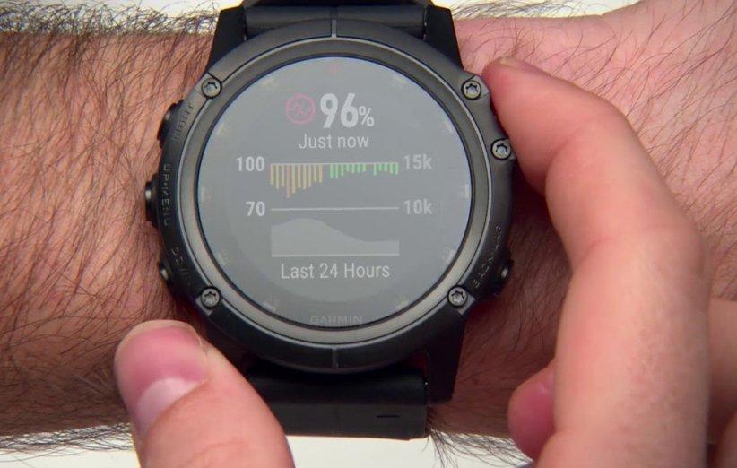 سنسور سنجش اکسیژن خون ساعت هوشمند گارمین