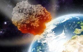 طرحی گرافیکی از ورود یک سیارک به جو