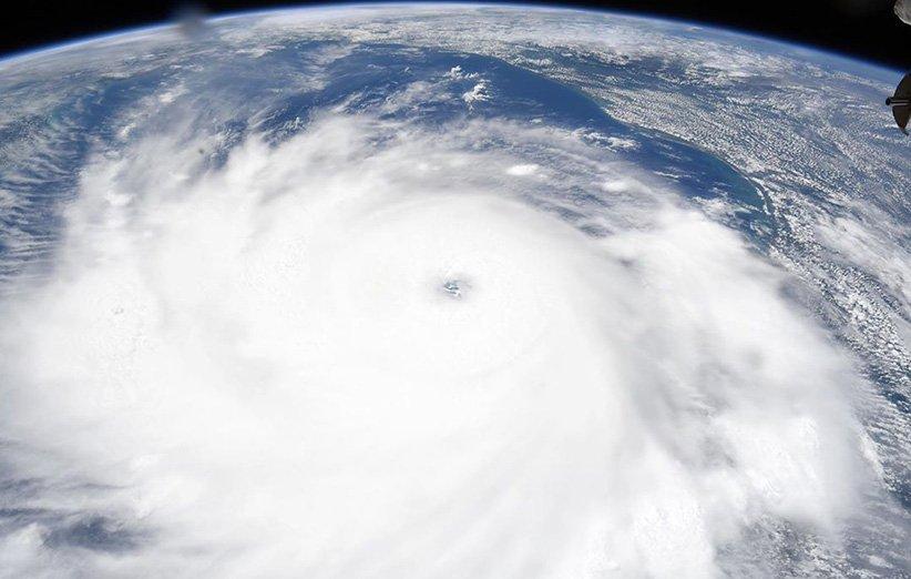 توفند لورا از نگاه ایستگاه فضایی بینالمللی