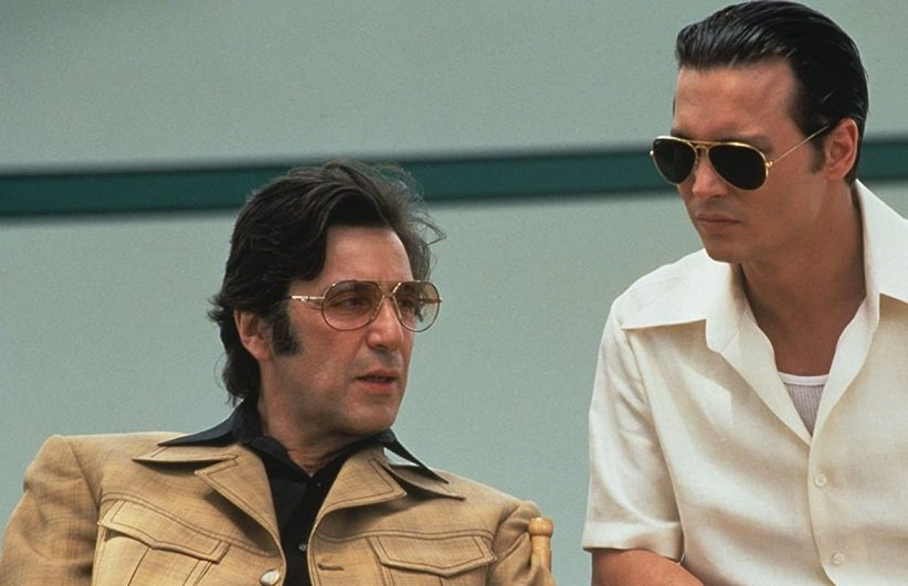 نمایی از آل پاچینو در فیلم دانی براسکو - بهترین فیلمهای دهه 90 میلادی