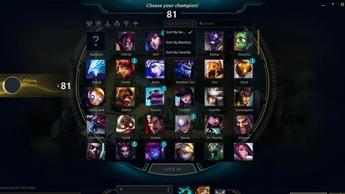 League of Legends Hero Selection