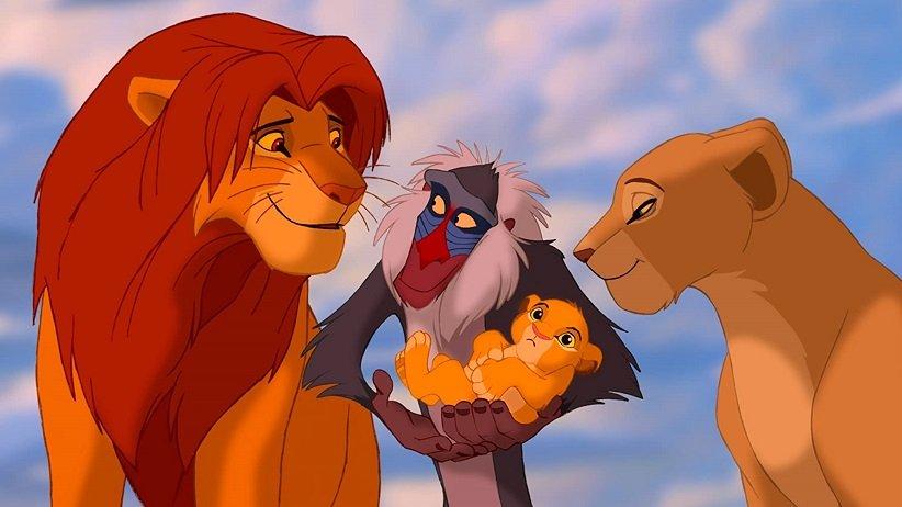 نمایی از انیمیشن شیر شاه - بهترین فیلمهای دهه 90 میلادی
