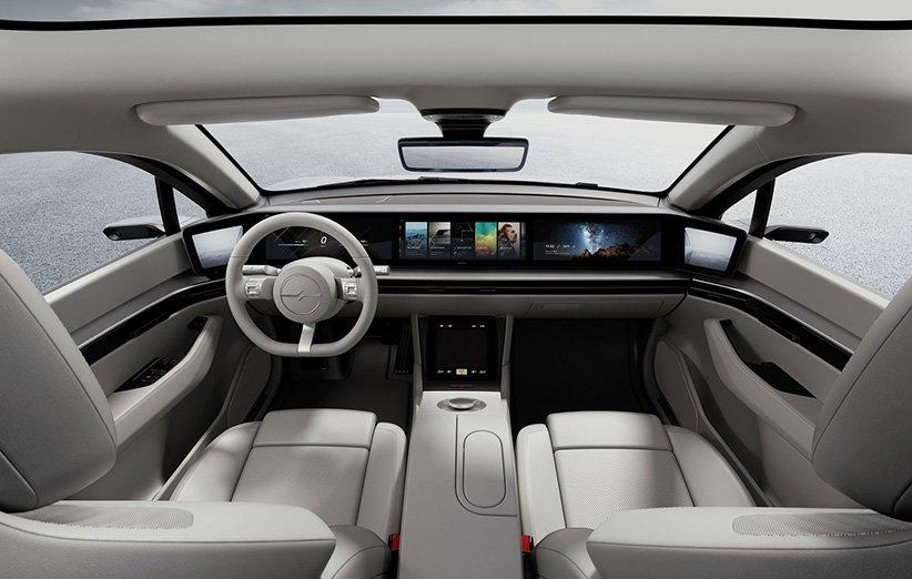 نمای داخلی خودرو Sony Vision-S