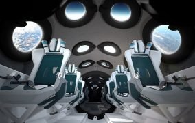 طراحی داخلی کابین فضاپیمای ویرجین گلکتیک