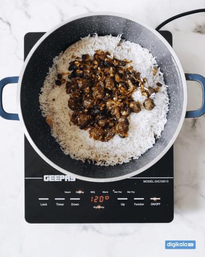 مایه قنبر پلو شیرازی روی برنج