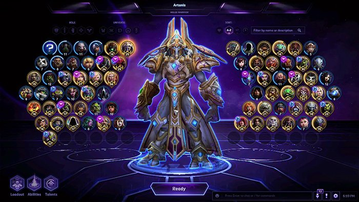 Heroes of the Storm Hero Selection