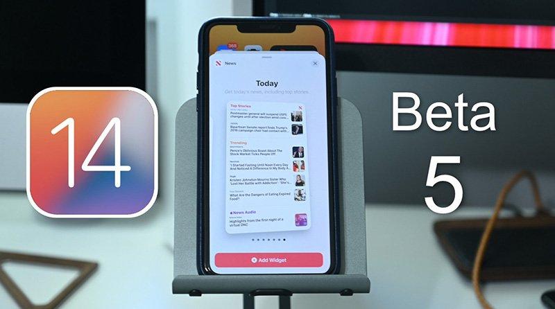 بتای پنجم iOS 14