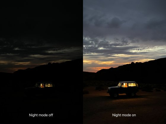 حالت عکاسی Night mode در آیفون