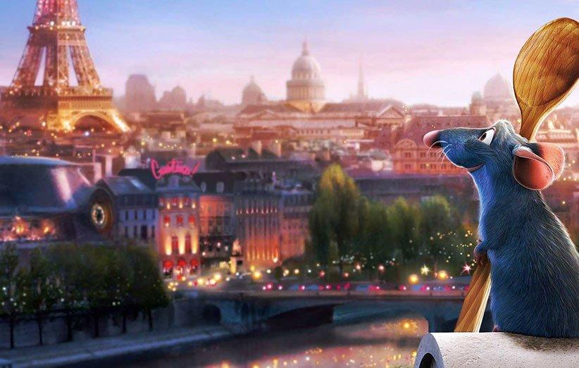 نمایی از پاریس در انیمیشن راتاتویی