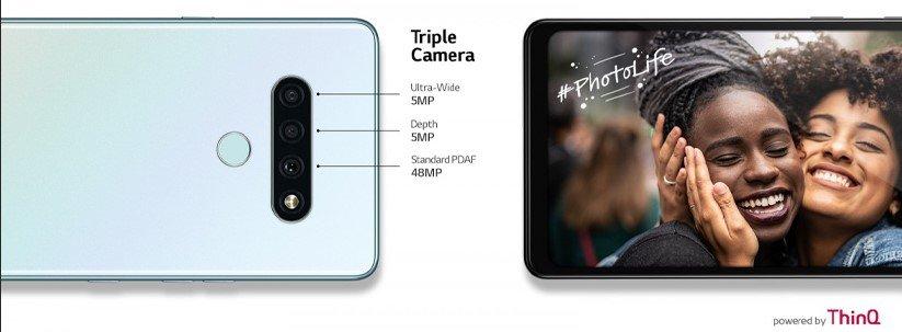 دوربین گوشی ال جی K71