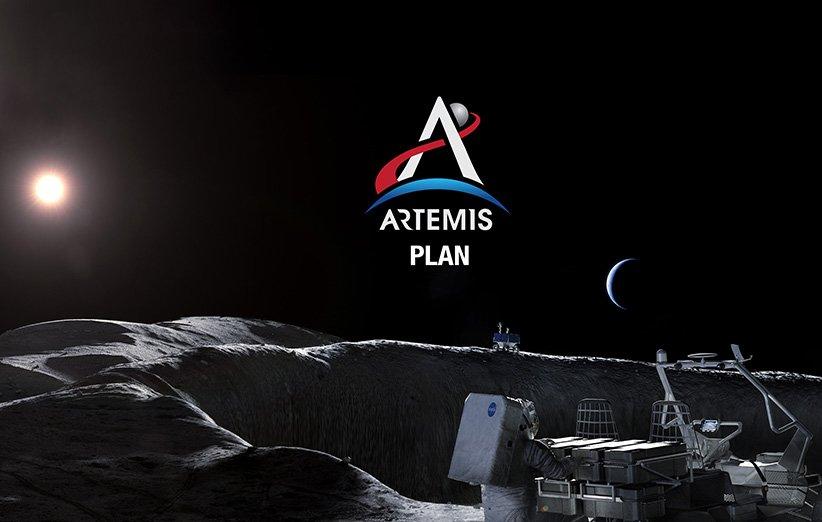طرحی گرافیکی از مأموریت آرتمیس ناسا