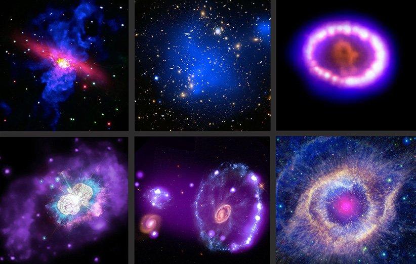 تصاویر اعماق فضا که با کمک رصدخانهی چاندرا تهیه شده