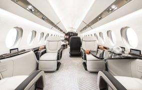 طراحی داخلی کابین هواپیمای فالکون 6X