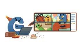 لوگوی گوگل به مناسبت 22 سالگی