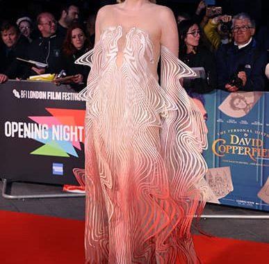 گوئندولین کریستی در فرش قرمز جشنوارهی فیلم لندن