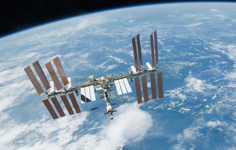 نمایی از ایستگاه فضایی بینالمللی در مدار